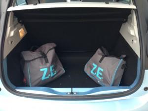 Les deux sacoches ZE dans le coffre
