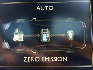La visualisation des flux énergétique est particulièrement bien faite, accessible depuis l'écran du GPS